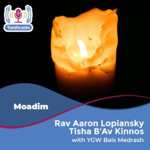Rav Aaron Lopiansky Tisha B'Av Kinnos