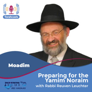 Preparing for the Yamim Noraim
